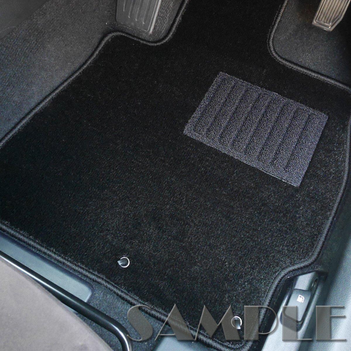 ホンダ NSX フロアマット [適応車種:平成2年9月~平成17年12月 左ハンドル]MAT-Plus【車種別専用設計社外品自動車マット】【プレミアム ブラック】 B076J8BHBC ブラック ブラック