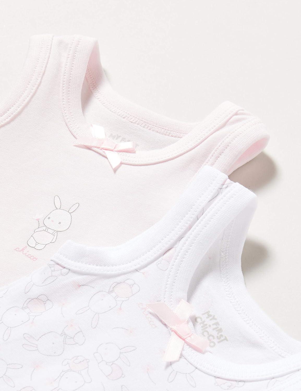 74 Rose Rosa 011 Chicco Set 2 Body Senza Maniche B/éb/é Fille Taille Fabricant: 074 Lot de 2