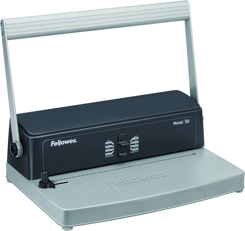 Fellowes Metal 50 - Encuadernadora manual de espiral metálico, uso ocasional