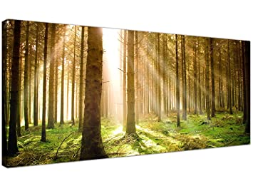 Amazonde Modern Canvas Prints Of Forest Trees For Your Dining Room