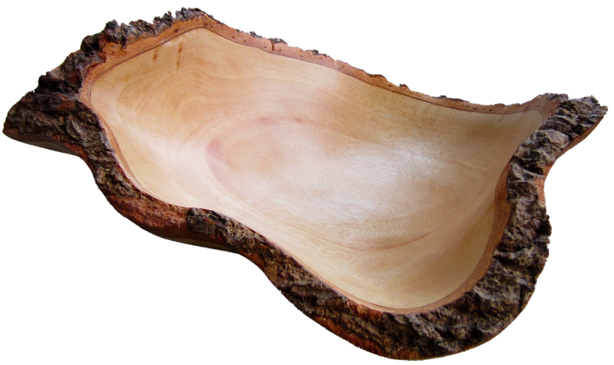 roro 10 In Mango Wood Fruit Bowl with Bark Edges Made from Sustainable Orchard Wood by roro
