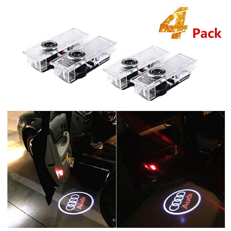4 pezzi di luci per porte auto LED 3D Car Light Entry illuminazione lampada del proiettore di benvenuto Logo Light Bodhi
