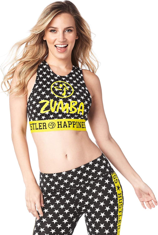Zumba Women's High Neck Workout Sports Bra