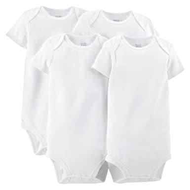 42d16d0ff Just One You by Carter's Unisex Baby 4 Pack Short-sleeve Bodysuit - White (