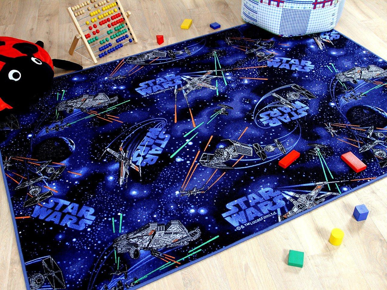 Snapstyle Kinder Spiel Teppich Star Wars Blau in 24 Größen