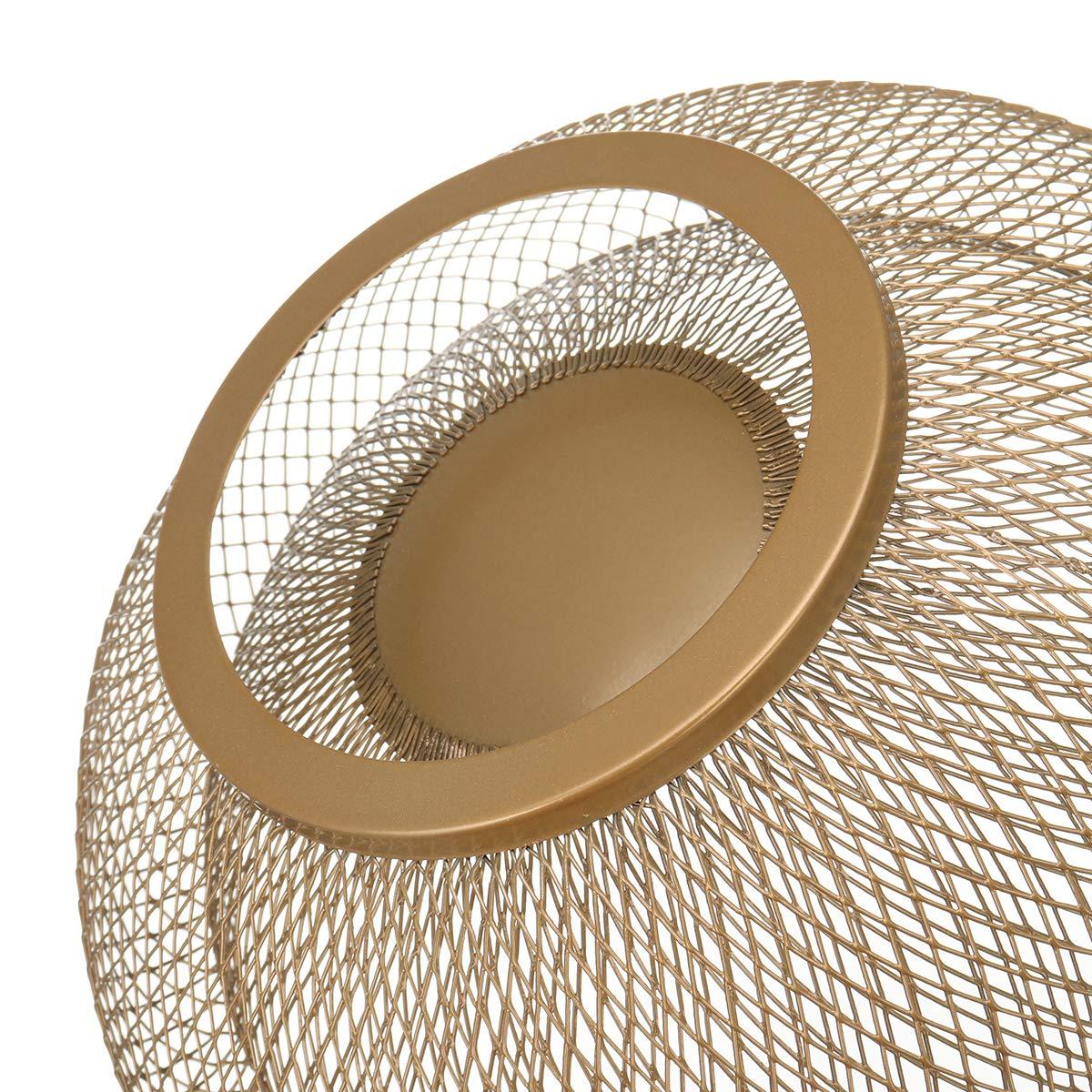 Obstkorb doppelschichtig Eisen Aufbewahrung 250 x 130 x 100 mm gold getrocknet f/ür Wohnzimmer Obstkorb Aufbewahrungsschale
