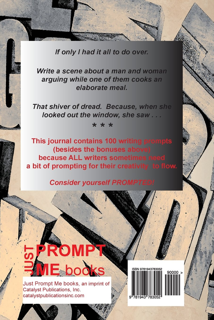 Just prompt me a writers journal with prompts just prompt me writers journal with prompts just prompt me writers journals volume 1 charlotte rains dixon nancy paulson fox 9781943783052 amazon books solutioingenieria Images