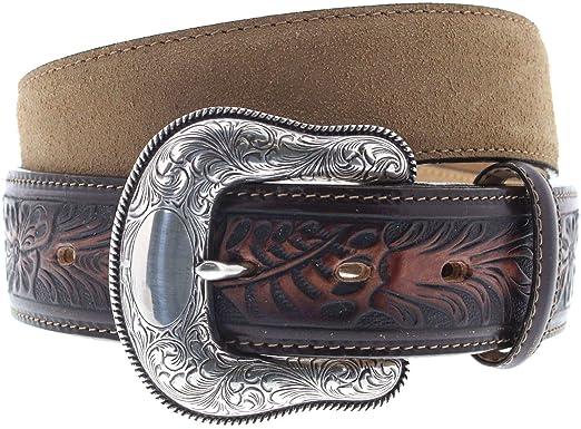 bf5f40d562529b FB Fashion Boots Justin Belts Unisex Gürtel C13718 Westerngürtel  Ledergürtel Braun 85 Zentimeter