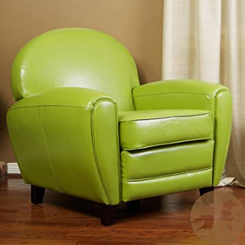 Beau Metro Shop Christopher Knight Home Oversized Lime Green Leather Club Chair