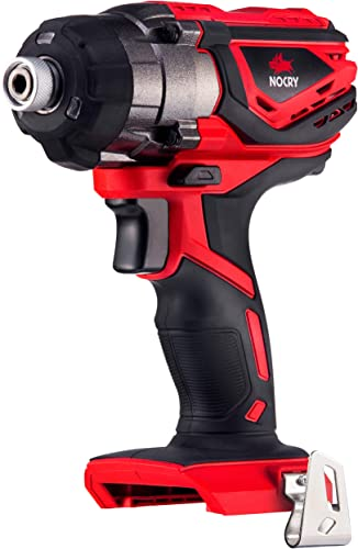 NoCry 20V Cordless Impact Driver – Bare Tool ONLY with 120 ft-lb 160 N.m Torque, 3000 Max RPM IPM, 1 4 inch Hex Chuck, LED Work Light Belt Clip