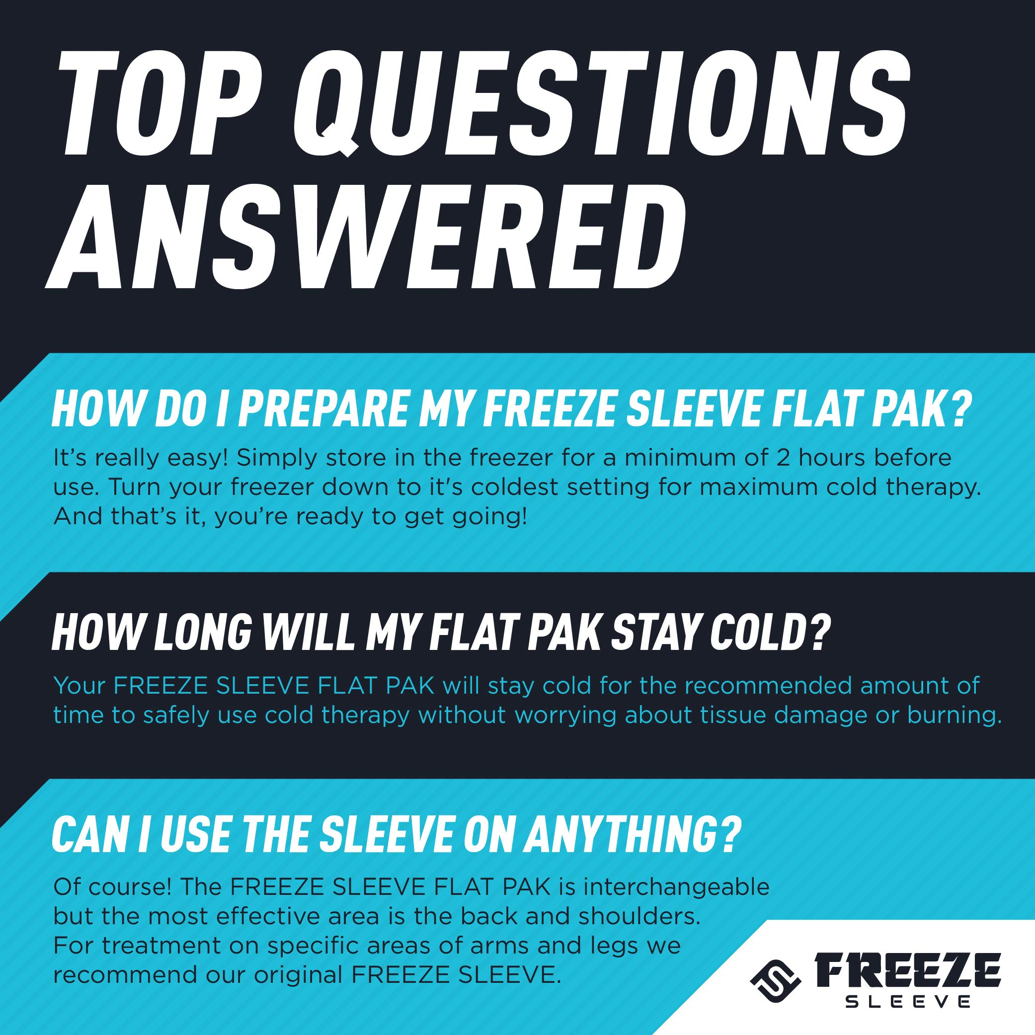 FreezeSleeve Flat Pak - 12'' x 17'' Cold Therapy Treatment- Black by FreezeSleeve (Image #5)
