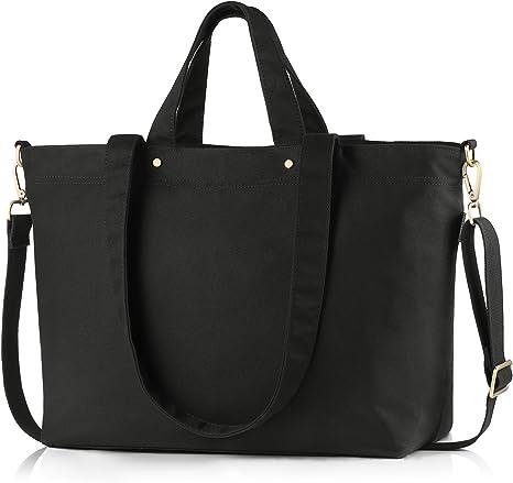 BONTHEE Große Shopper Tasche Schwarze Handtaschen Damen