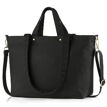 60aa33658f146 BONTHEE Große Shopper Tasche Schwarze Handtaschen Damen Schultertasche -  Schwarz