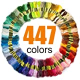 LOVIMAG Premium Rainbow Color Embroidery Floss with Cotton for Cross Stitch Threads, Bracelet Yarn, Craft Floss, Embroidery Floss Set