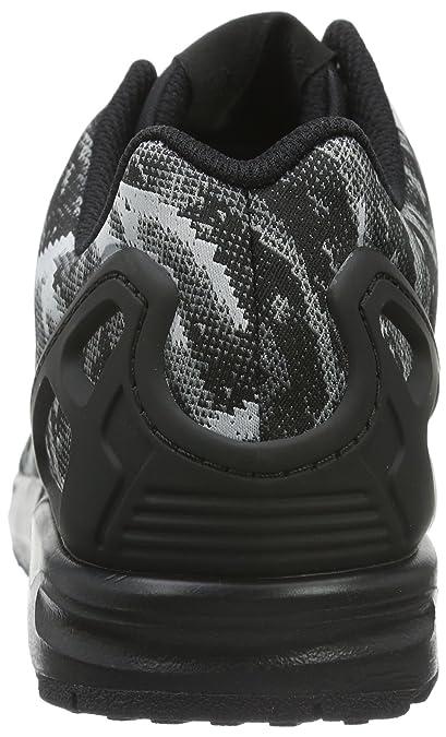 super popular 6e94d 02830 adidas Men s ZX Flux Weave Running Shoes Schwarz Core Black Bright Yellow,  9.5 UK  Amazon.co.uk  Shoes   Bags