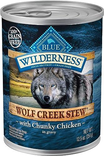Blue Buffalo Wilderness Wolf Creek Stew High Protein Grain Free Natural Wet Dog Food