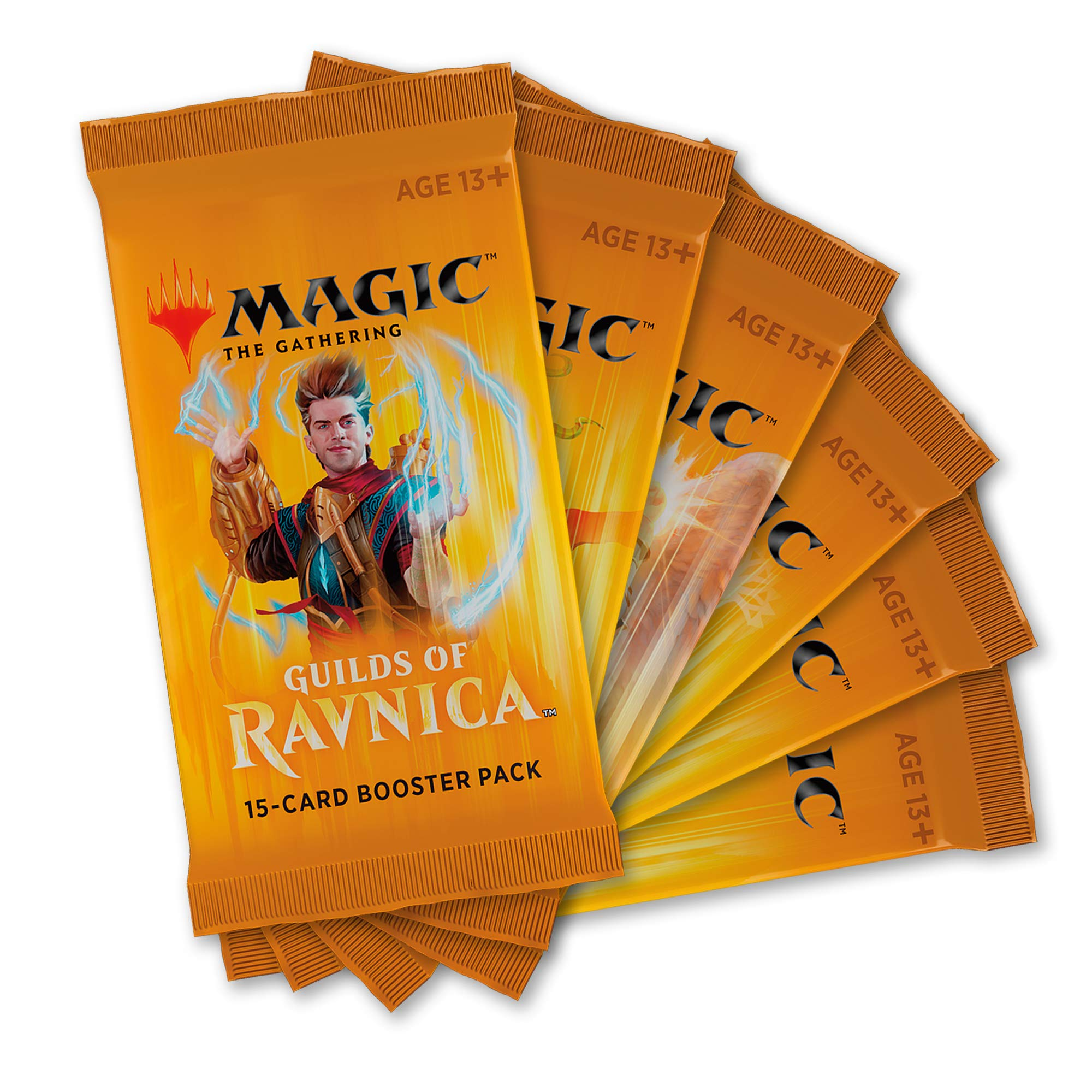 Magic: The Gathering Guilds of Ravnica Boosters | 6 Booster Pack (90 Cards)