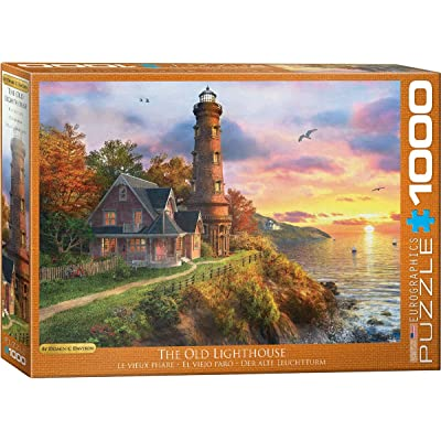 EuroGraphics Lighthouse Sunset Ocean Cliff Peace Quiet Puzzle: Toys & Games