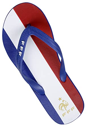 617aa26add3e3 Equipe de FRANCE de football Tongs FFF - Collection officielle Taille  adulte homme 45/46