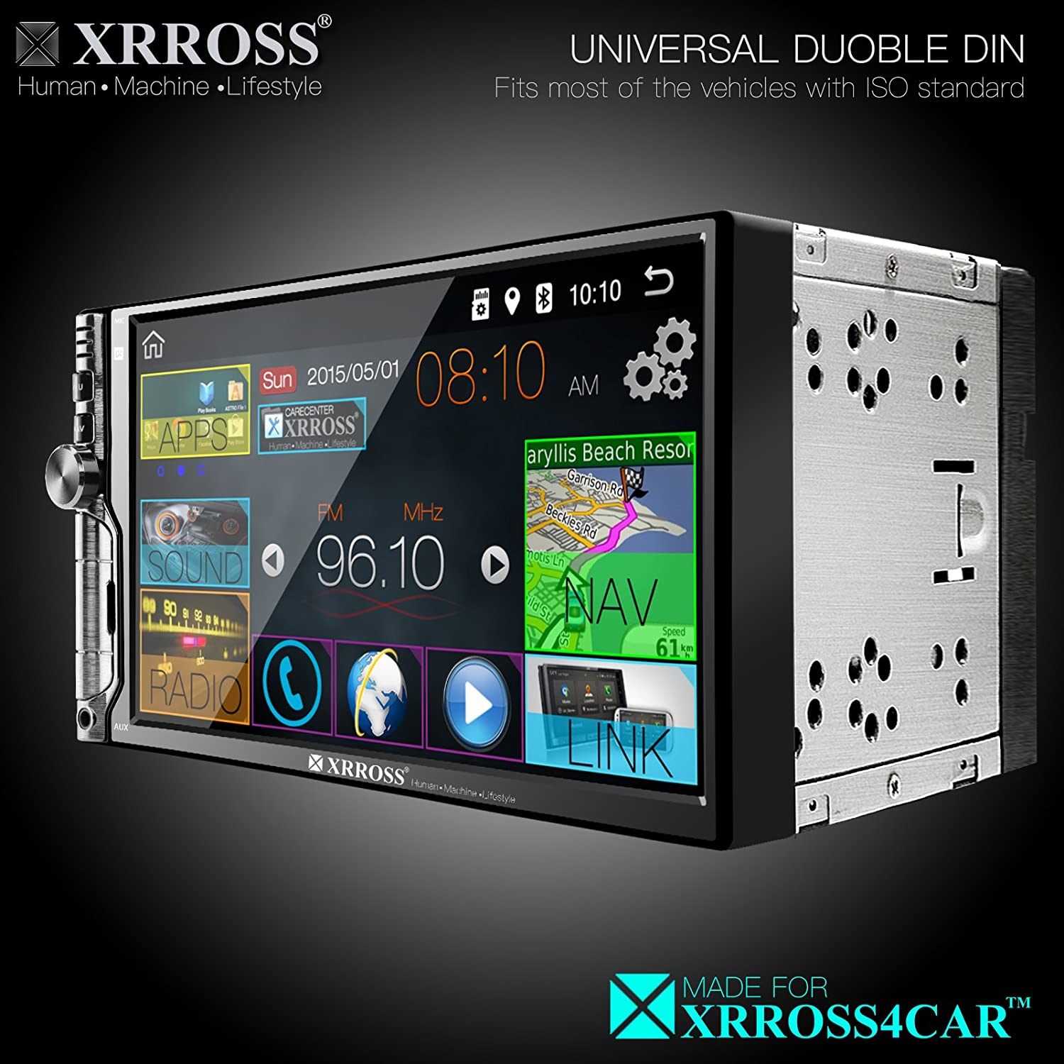 Car audio video radio player GPS Navigation System Android 6.0 Double Din 7inch