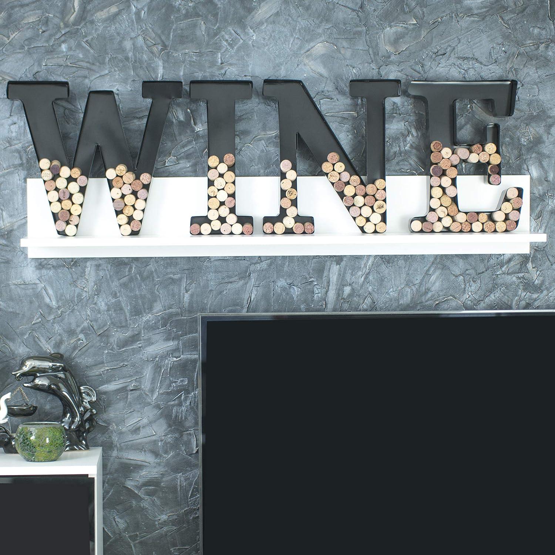 F Metal Letter Wine Cork Holder Monogram w//Free Wall Mount KitA-Z,