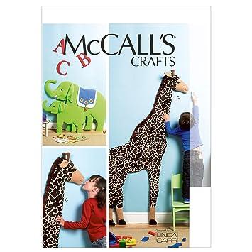 Mc Call´s Schnittmuster 6672 Crafts Wandschmuck,Elefant,Giraffe ...