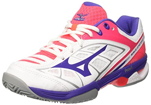 bbd03a27d2be Mizuno Women's Wave Exceed CC (W) Tennis Shoes, Multicolour (White/Liberty