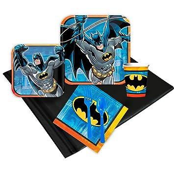 Amazon.com: Batman Niños Fiesta de cumpleaños suministros ...
