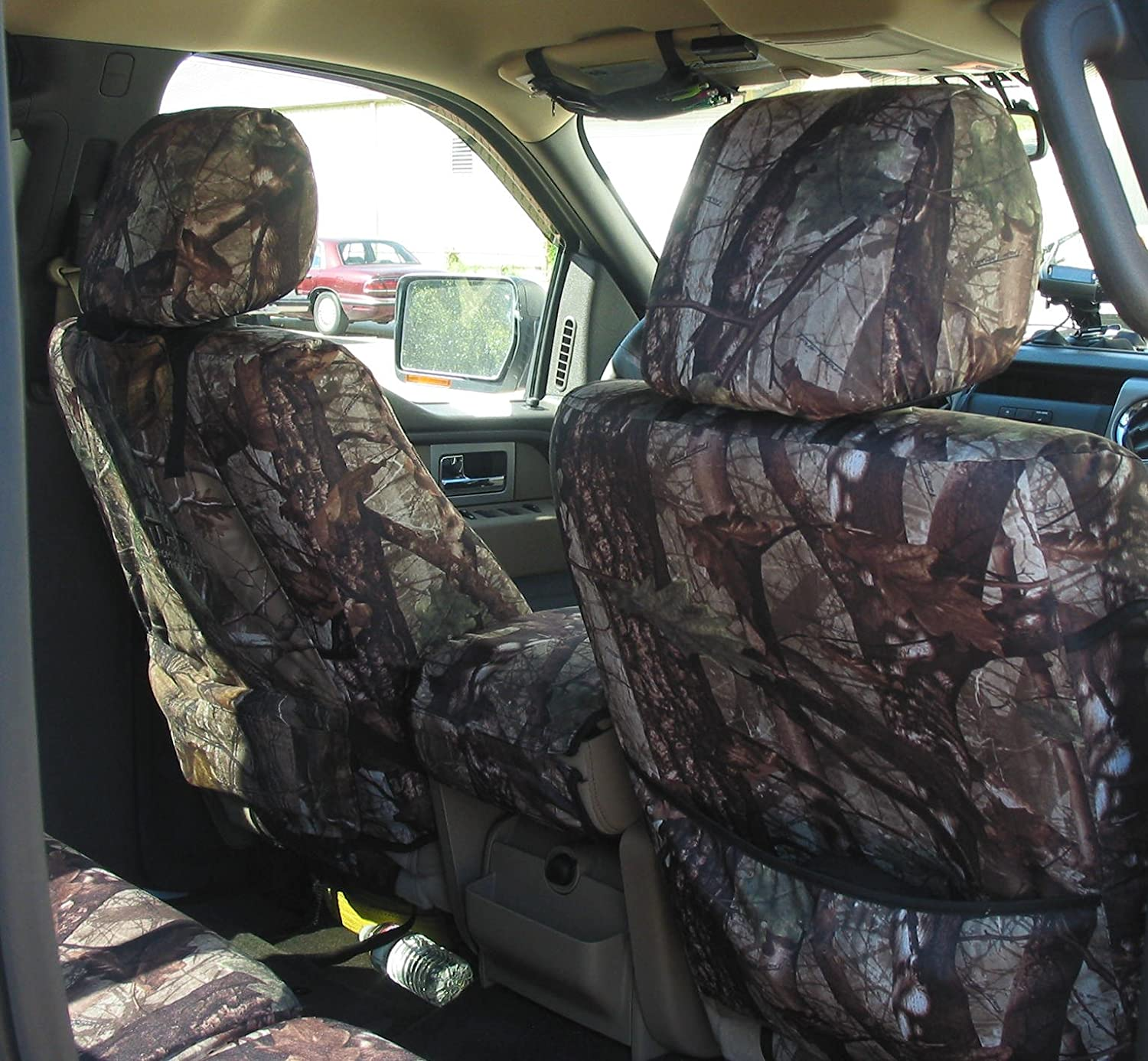 DS1 Camo Waterproof Endura Exact Seat Covers 2010 Ford F150 XLT Super Crew Front and Back Seat Set Custom Exact Fit Seat Covers FD49 DS1-E