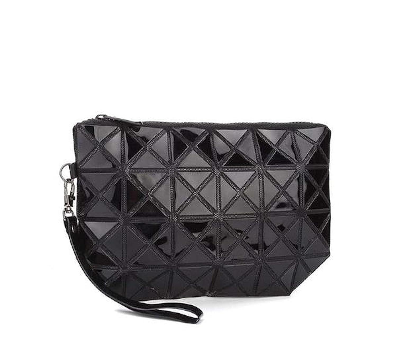 NEW Fashion Geometric Design Bao Bao Black Cosmetic Bags Makeup Bag Wristlet 492ef1e35b4bc