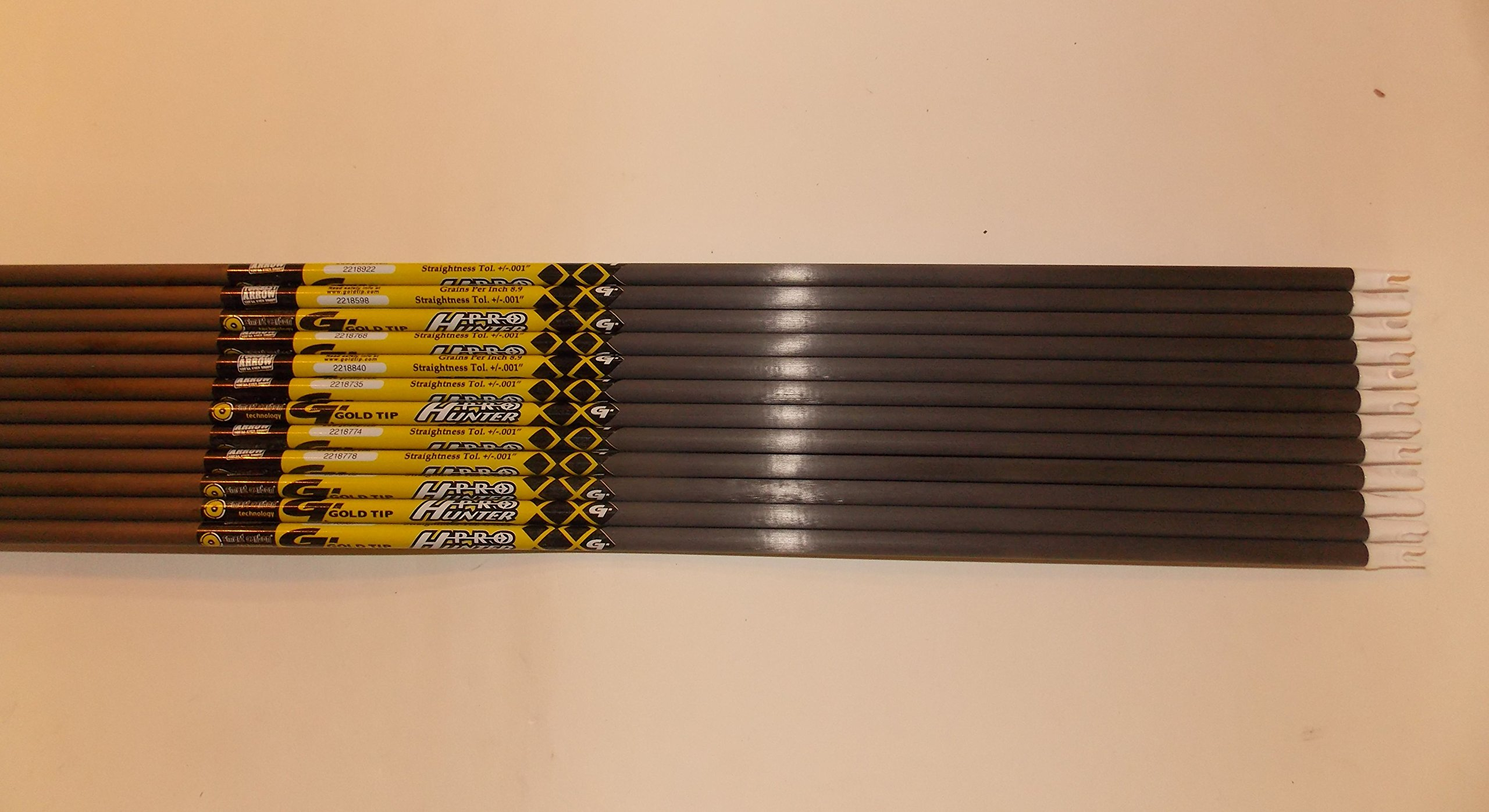 Gold Tip Pro Hunter 5575/400 Carbon Arrows w/Blazer Vanes Mossy Oak Wraps 1Dz.
