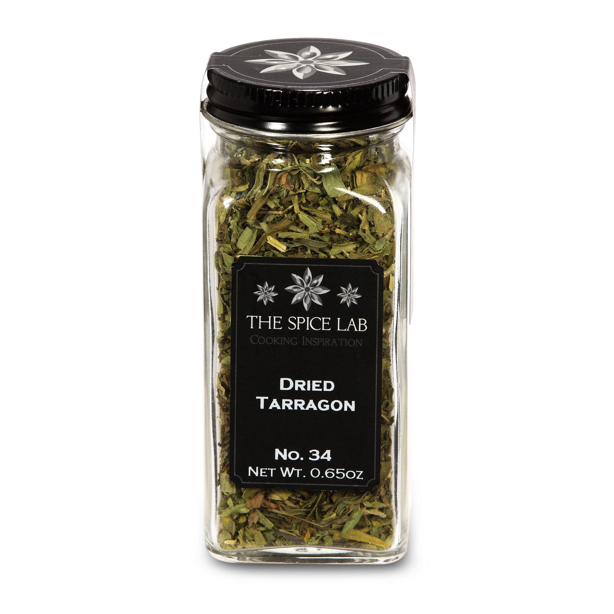 The Spice Lab No. 34 - Dried Tarragon - All Natural Kosher Non GMO Gluten Free Spice - French Jar