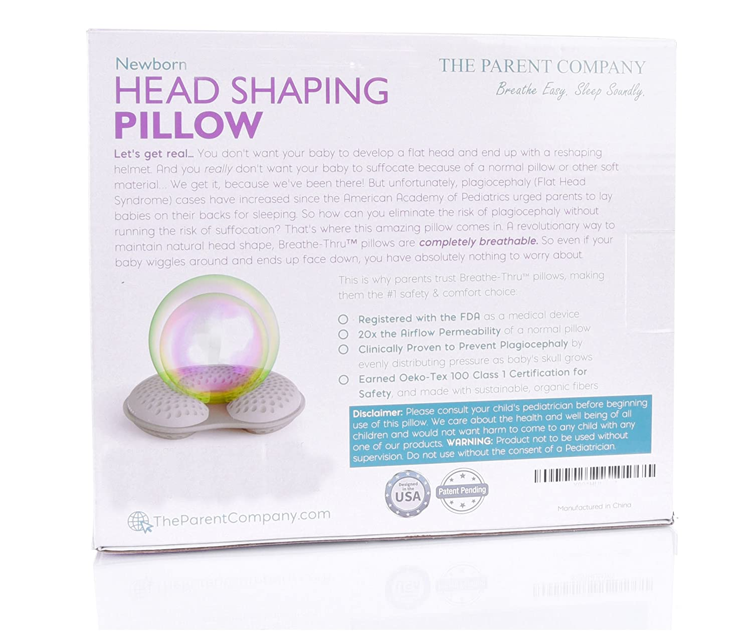 Newborn Breathe-Thru Cushion for Head Support /& Flat Head Syndrome 13-17 Inch Head Circumference Positional Plagiocephaly Prevention Baby Head Shaping Pillow Premie