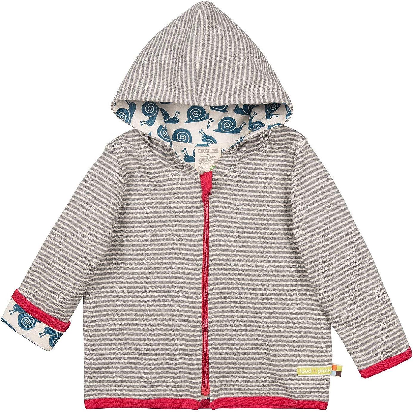 GOTS Zertifiziert Jacke loud proud Unisex Baby Wendejacke aus Bio Baumwolle