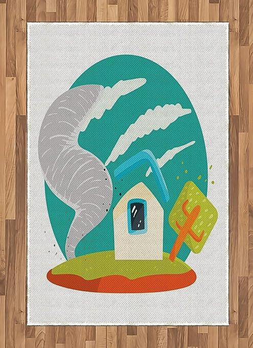 ABAKUHAUS Tornado Alfombra de Área, Estilo De Dibujos Animados ...