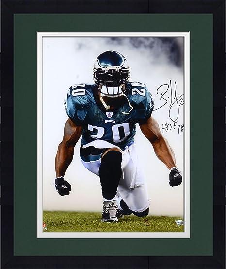 5053e85508c Framed Brian Dawkins Philadelphia Eagles Autographed 16 quot  x 20 quot   Smoke Photograph with quot HOF
