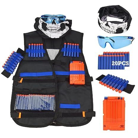 Elite Tactical Vest with 100pcs Soft Foam Darts for Nerf Gun N-strike Elite