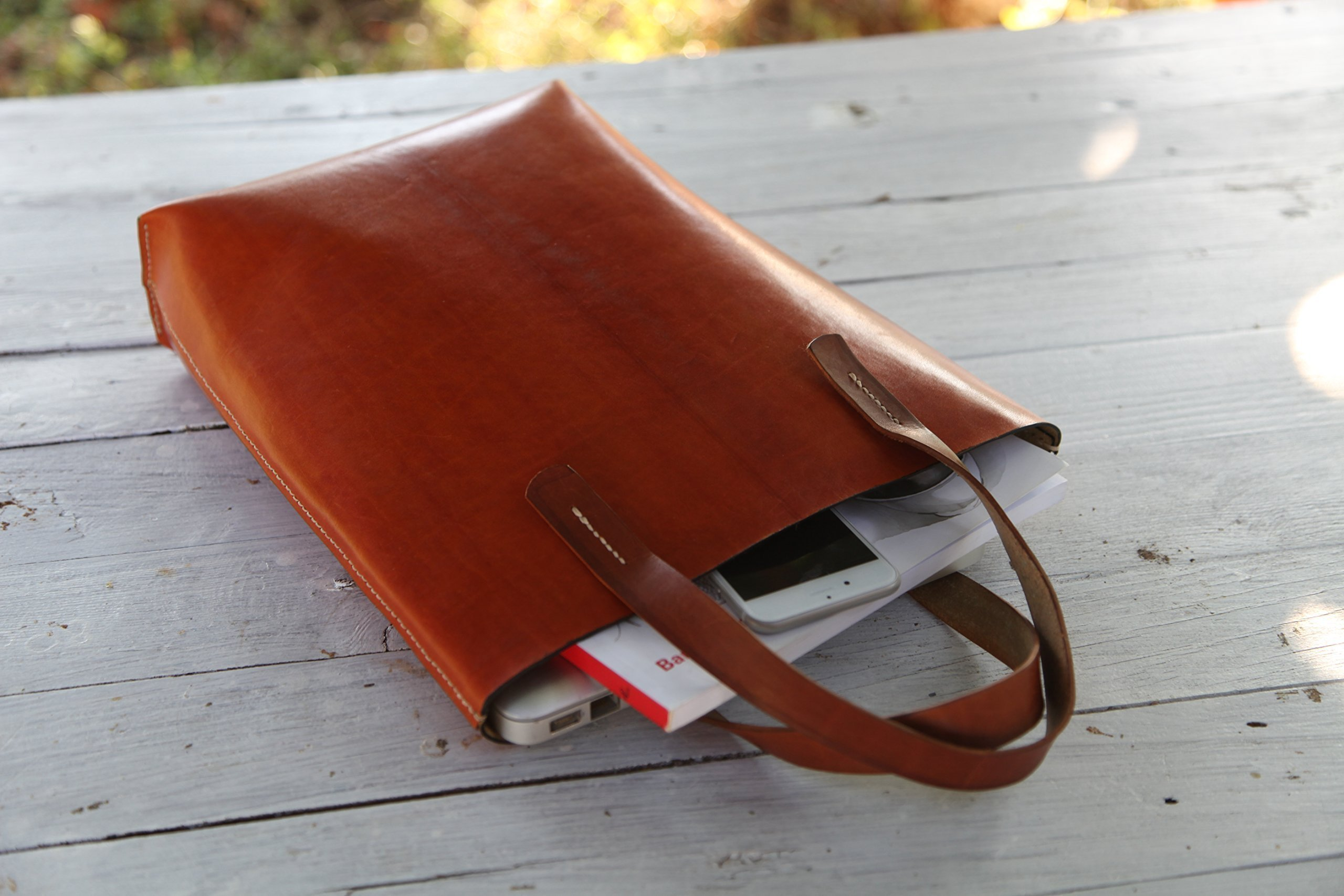 Leather Tote Bag / Laptop Tote / Leather Laptop Tote / Vertical Tote Bag
