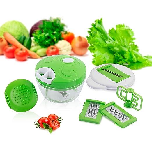 16 opinioni per Grattugia di verdure/6 in 1 Affettatrice di Verdure Frusta da Cucina