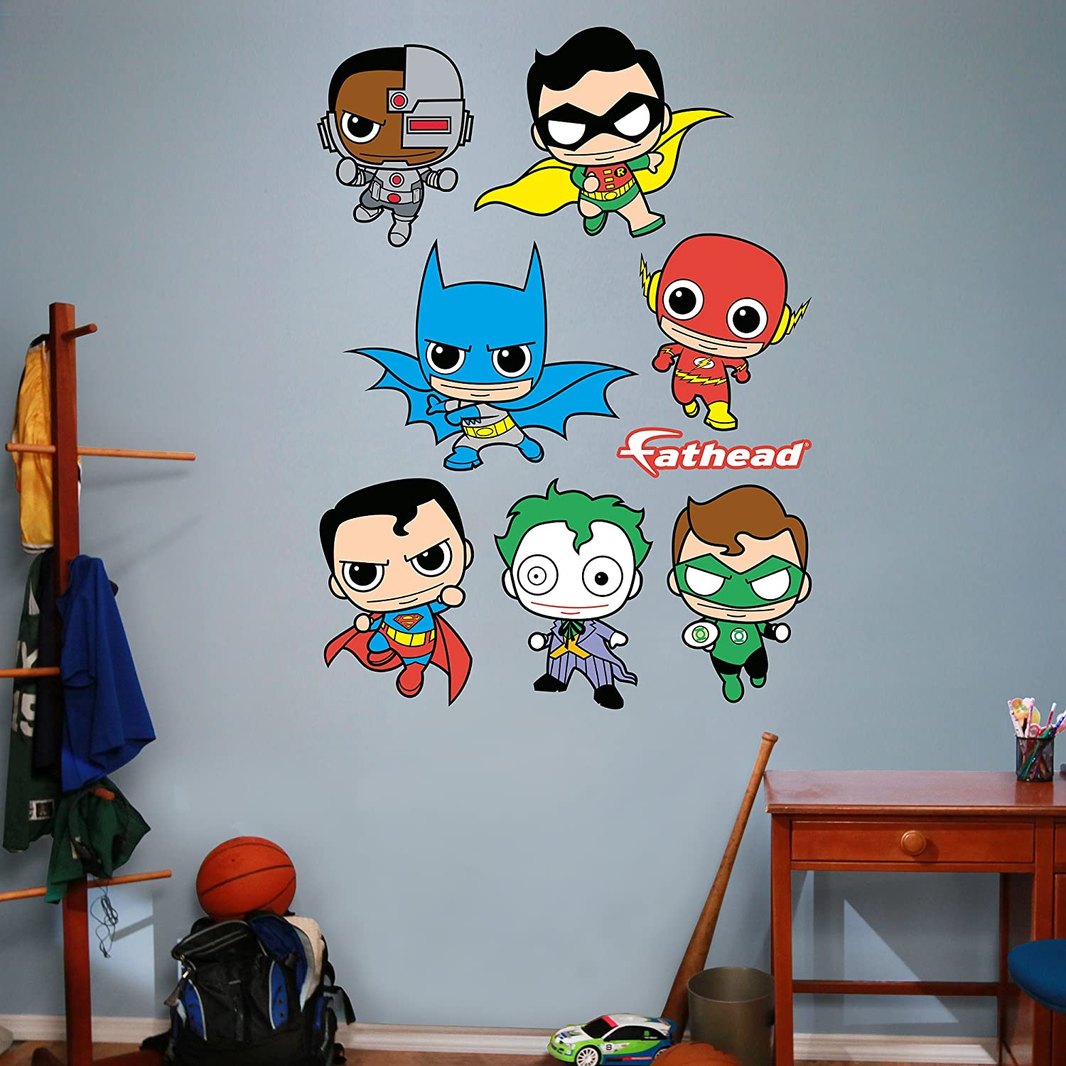 amazon com fathead dc comics kids collection vinyl decals home amazon com fathead dc comics kids collection vinyl decals home kitchen