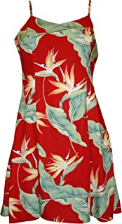 product image for Paradise Found Womens Bird of Paradsie #5 (2011) Princess Seam Mini Sundress in Red - S