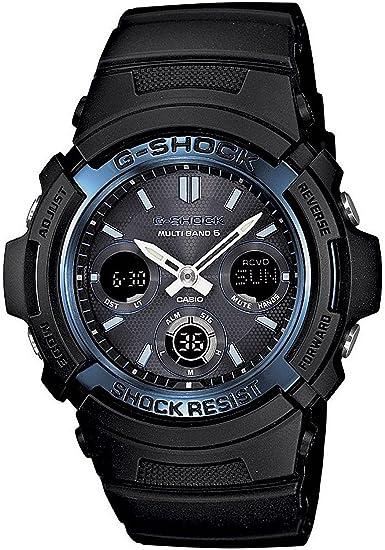 Casio Reloj digital numérico y virtual Analog Radio solar awg-m100 a-1 a: Amazon.es: Relojes