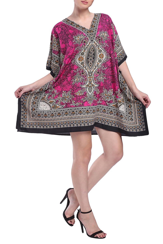 280334d418f4 Miss Lavish Women s Kaftan Tunic Kimono Dress Summer Evening Plus Size  Beach Cover Up 10-24