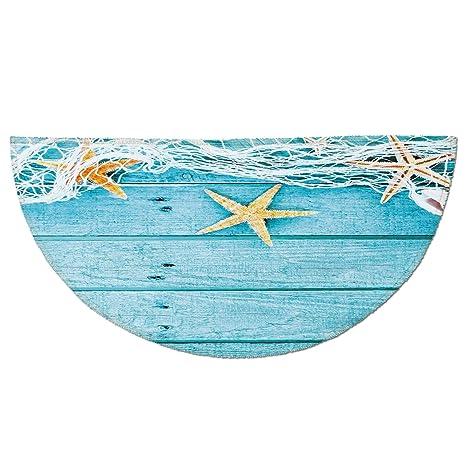 4bc50de0ceee Amazon.com: Half Round Door Mat Entrance Rug Floor Mats,Starfish ...