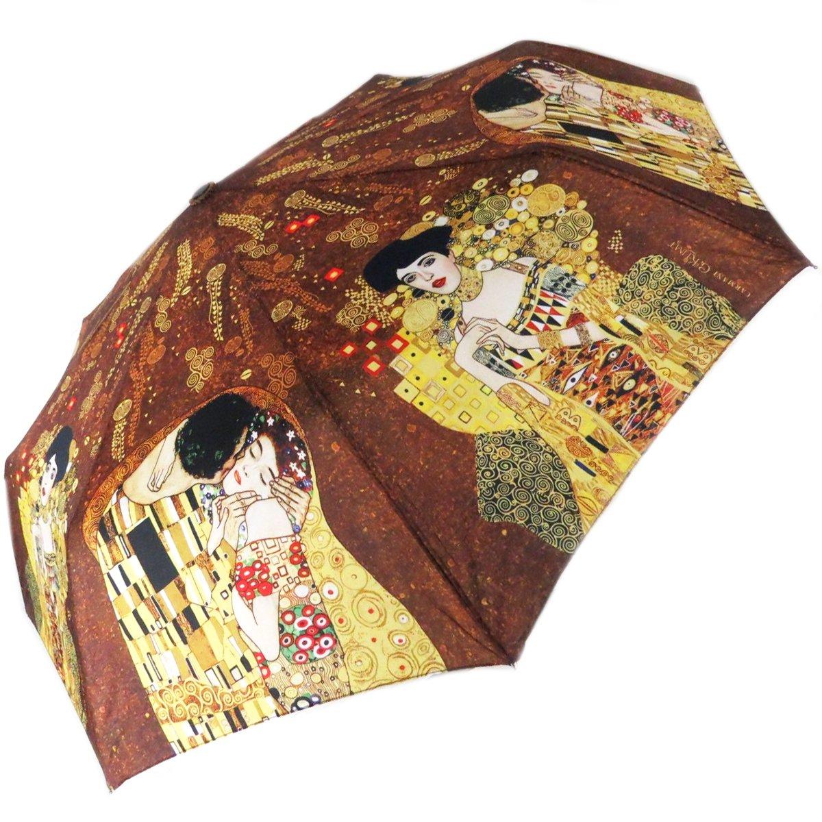 Les Trésors De Lily [Q0261] - Mini manual umbrella 'Gustav Klimt' (el beso - adele)- 86 cm. 041701PLY062018Q026100