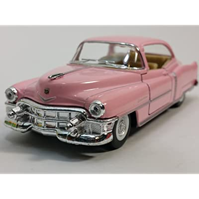 Kinsmart 1953 Cadillac Series 62 Cotton Candy Pink 2 Door Coupe 1/43 O Scale Diecast Car: Toys & Games