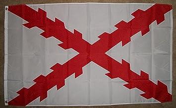 NationalCountry Flags Español Ensign Bandera 3 x 5 3 x 5 España Royal Guerra Banner: Amazon.es: Jardín