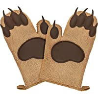 Bear Oven Mitts Set for Baking Set of 2,Funny and Cute Kitchen Mittens,Cooking Oven Gloves Silicone Heat Resistant 500°F…
