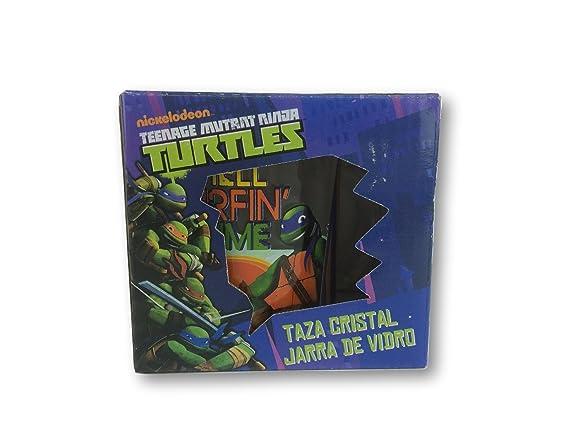 Taza cristal giftbox de Tortugas Ninja: Amazon.es: Juguetes ...