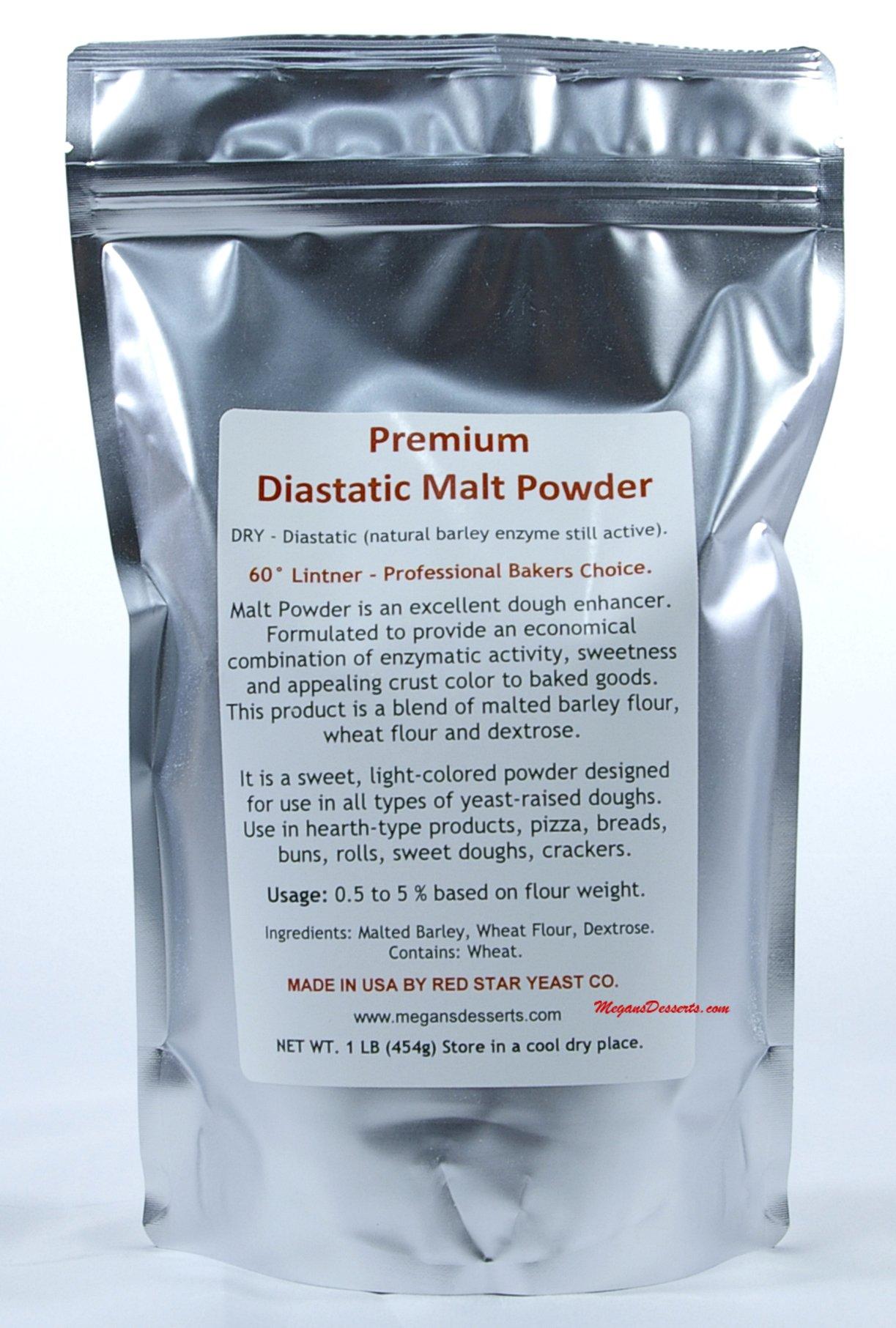 Diastatic Malt Powder 16 oz. - (1lb) Bag, Made by Red Star Yeast Company
